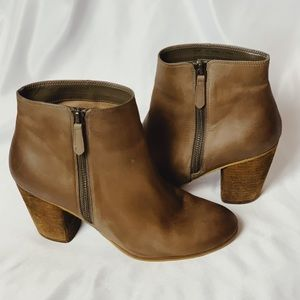 BP tan leather booties size 8.5